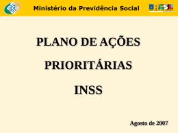 Plano de Ações Prioritárias do INSS