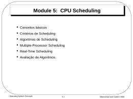 Escalonamento da CPU