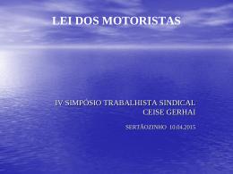 Lei dos Motoristas