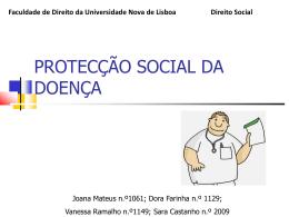 Subsidio de Doença - Faculdade de Direito da UNL