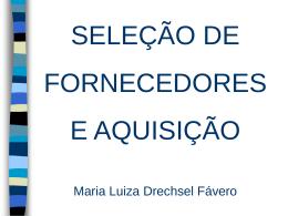 TEMA V: GESTÃO DE ESTOQUES - CRF-PR