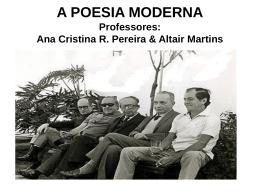 A POESIA MODERNA