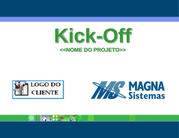 Apresenta Kick Off - Portal Magna Sistemas