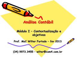 Contextualização e objetivos - fev 2013