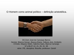 O Homem como animal político – definição aristotélica