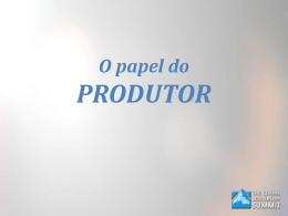 Powerpoint do treinamento do Produtor