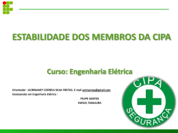 Estabilidade dos Membros da CIPA