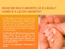 como é a lei do aborto?