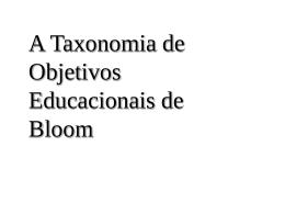 taxonomia Bloom Arquivo