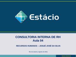 aula 4 – o processo de consultoria interna: oportunidades e riscos