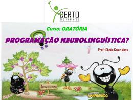 5ª- Aula – Programação NeuroLinguística