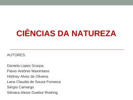 Ciências da Natureza - Observatório do Ensino Médio