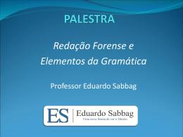 Redação Forense e Elementos da Gramática - TCE-RO