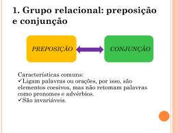 preposição conjunção - Colégio Salesiano Recife