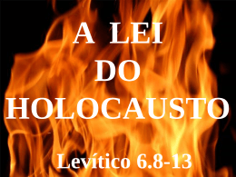 A LEI DO HOLOCAUSTO