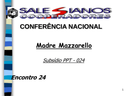 Encontro 24 - Madre Mazzarello