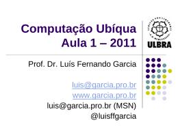 Introdução - Prof. Dr. Luis Fernando Garcia