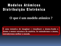 O que é um modelo atômico