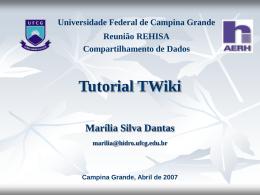 Apresentação TWiki - Universidade Federal de Campina Grande