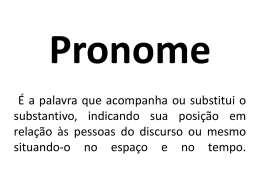 Pronome pessoal