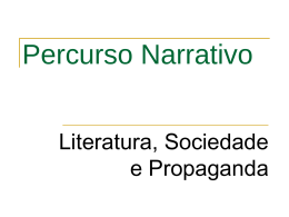 Percurso Narrativo