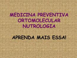 MEDICINA PREVENTIVA ORTOMOLECULAR