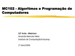 matrizes - Instituto de Computação