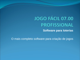 JOGO FÁCIL 07.00 PROFISSIONAL
