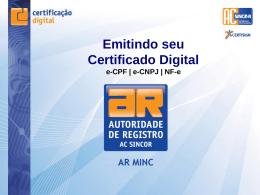 Como emitir seu Certificado Digital