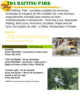 Slide 1 - TDA Rafting & Expedições