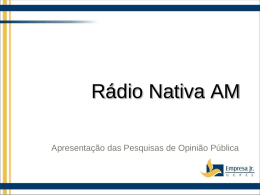 Slide 1 - Rádio Cultura Riograndina