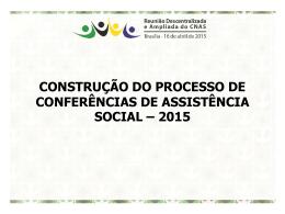 Apresentação do PowerPoint - Assistência e Desenvolvimento Social