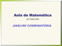 2º ANO – Análise Combinatória