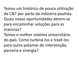 Palestra do Prof. Renato Dagnino