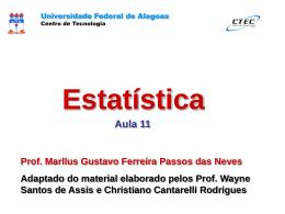 Probabilidade Condicional - Universidade Federal de Alagoas