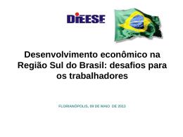 Apresentação sobre desenvolvimento regional