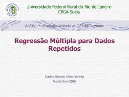 Regressão linear múltipla para dados repetidos