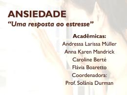 ANSIEDADE - Unioeste