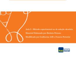 médias amostrais - Avaliação Econômica de Projetos Sociais