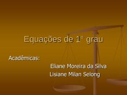 Equações de 1° grau - Universidade de Passo Fundo