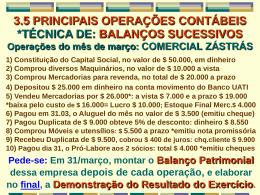 TÉCNICA DE BALANÇOS SUCESSIVOS 1ª operação - Uni