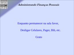 Administrando Finanças Pessoais