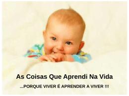 O que Aprendi na Vida - Teia da Língua Portuguesa