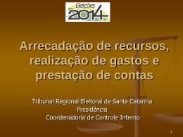Inovação - Tribunal Regional Eleitoral de Santa Catarina