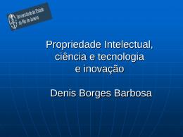 A propriedade intelectual