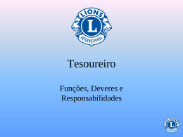 Tesoureiro do Clube - Lions Clubs International
