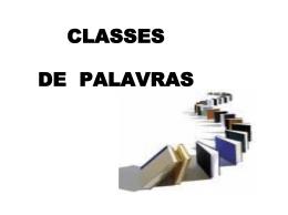 classes de palavras - CDF