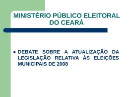 CRIMES ELEITORAIS - Ministério Público do Estado do Ceará