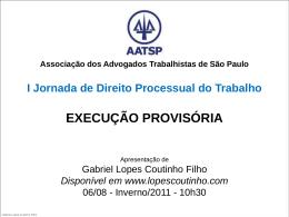 execução provisória conceito - Gabriel Lopes Coutinho Filho