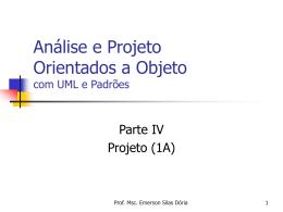 Projeto Orientado a Objetos (Parte I)